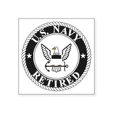"Navy-Retired-Bonnie-4.gif Square Sticker 3"" x 3"""