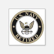 "Navy-Retired-Bonnie-5.gif Square Sticker 3"" x 3"""