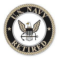 Navy-Retired-Bonnie-5.gif Round Car Magnet