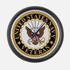 Navy-Veteran-Bonnie-5.gif Large Wall Clock