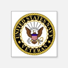 "Navy-Veteran-Bonnie-5.gif Square Sticker 3"" x 3"""
