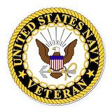 Navy veteran Round Car Magnets