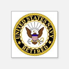 "Navy-Retired-Bonnie-7.gif Square Sticker 3"" x 3"""