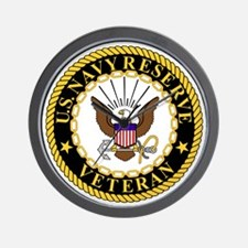 USNR-Veteran-2.gif Wall Clock