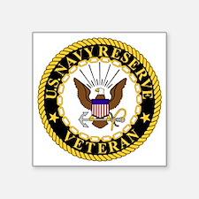 """USNR-Veteran-2.gif Square Sticker 3"""" x 3"""""""