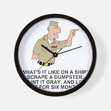 Navy-Humor-Life-On-A-Ship-Khaki.gif Wall Clock