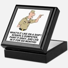 Navy-Humor-Life-On-A-Ship-Khaki.gif Keepsake Box