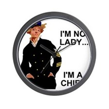 Navy-Humor-Im-A-Chief-G.gif Wall Clock