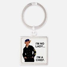 Navy-Humor-Im-A-Chief-G.gif Square Keychain