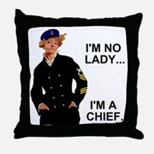 Navy-Humor-Im-A-Chief-G.gif Throw Pillow