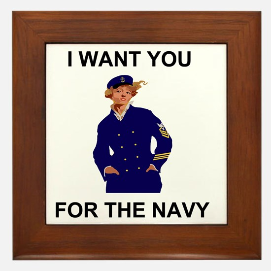 Navy-Humor-I-Want-Lady-CPO-G.gif Framed Tile