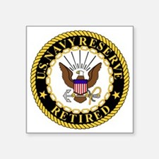 "USNR-Retired-2.gif Square Sticker 3"" x 3"""