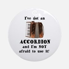 I've Got an Accordion Ornament (Round)