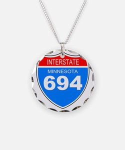 Sign-Minnesota-Interstate-69 Necklace