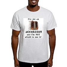 I've Got an Accordion Ash Grey T-Shirt