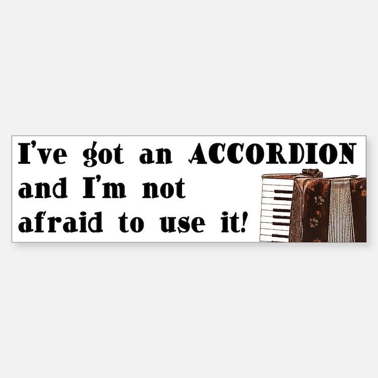 I've Got an Accordion Bumper Car Car Sticker