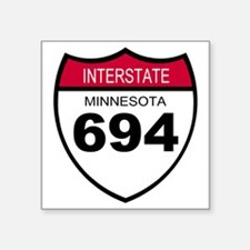 "Sign-Minnesota-Interstate-6 Square Sticker 3"" x 3"""