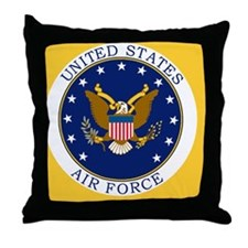 USAF-Patch-3-Button.gif Throw Pillow