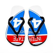 Sign-Minnesota-I494-Black-Shirt Flip Flops