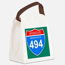 Sign-Minnesota-Interstate-494-Mag Canvas Lunch Bag