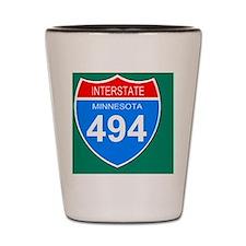 Sign-Minnesota-Interstate-494-Magnet.gi Shot Glass