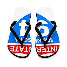 Sign-Minnesota-I94-Black-Shirt Flip Flops