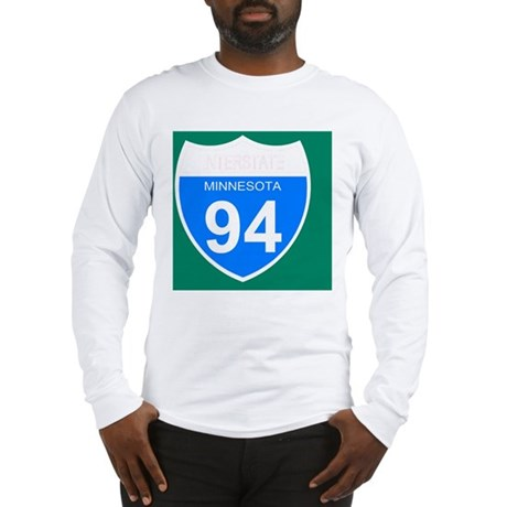 Sign-Minnesota-Interstate-94-J Long Sleeve T-Shirt
