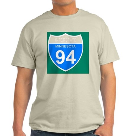 Sign-Minnesota-Interstate-94-Journal Light T-Shirt