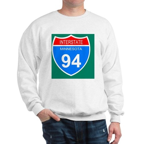 Sign-Minnesota-Interstate-94-Mousepad.g Sweatshirt
