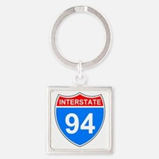 Sign-Interstate-94.gif Square Keychain