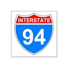"Sign-Interstate-94.gif Square Sticker 3"" x 3"""