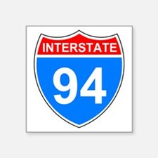 "Sign-Interstate-94.gif Square Sticker 3"" x 3"""
