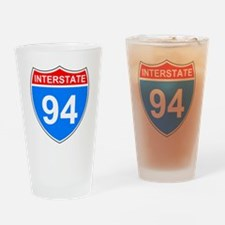 Sign-Interstate-94.gif Drinking Glass