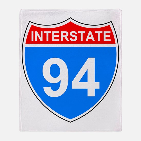 Sign-Interstate-94.gif Throw Blanket