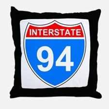 Sign-Interstate-94.gif Throw Pillow