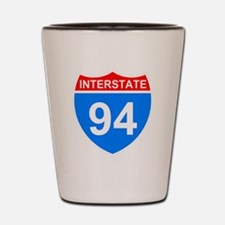 Sign-Interstate-94-Black-Shirt Shot Glass