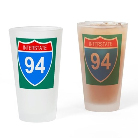 Sign-Interstate-94-Mousepad.gif Drinking Glass