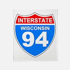 Sign-Wisconsin-Interstate-94.gif Throw Blanket