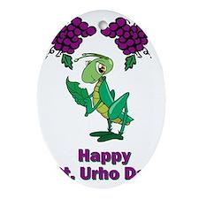St-Urho-Shirt-2.gif Oval Ornament