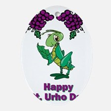 St-Urho-Shirt-2.gif Oval Ornament