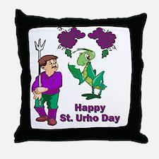 St-Urho-Black-Shirt-1 Throw Pillow