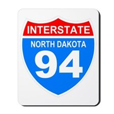 Sign-North-Dakota-Hwy-I94-Black-Shirt Mousepad