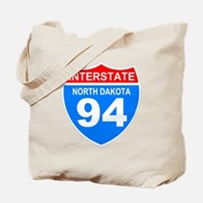 Sign-North-Dakota-Hwy-I94-Black-Shirt Tote Bag