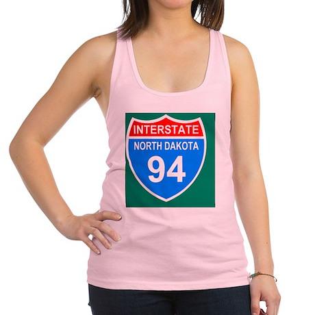 Sign-North-Dakota-Interstate-94 Racerback Tank Top