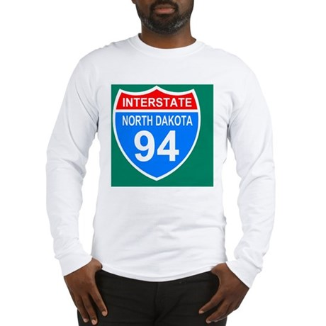 Sign-North-Dakota-Interstate-9 Long Sleeve T-Shirt