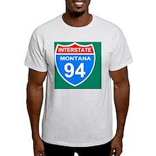 3-Sign-Montana-Hwy-I94-Tile.gif T-Shirt