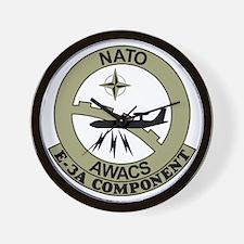 NATO-AWACS-E-3A-Light-Blue-Shirt.gif Wall Clock