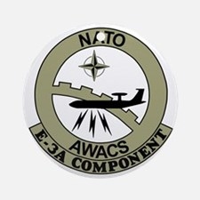 NATO-AWACS-E-3A-Light-Blue-Shirt.gi Round Ornament