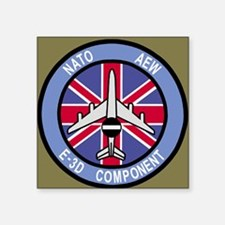 "NATO-AWACS-E-3D-Mousepad-2. Square Sticker 3"" x 3"""
