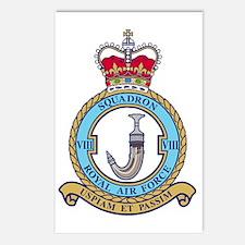 RAF-Squadron-8-Black-Shir Postcards (Package of 8)